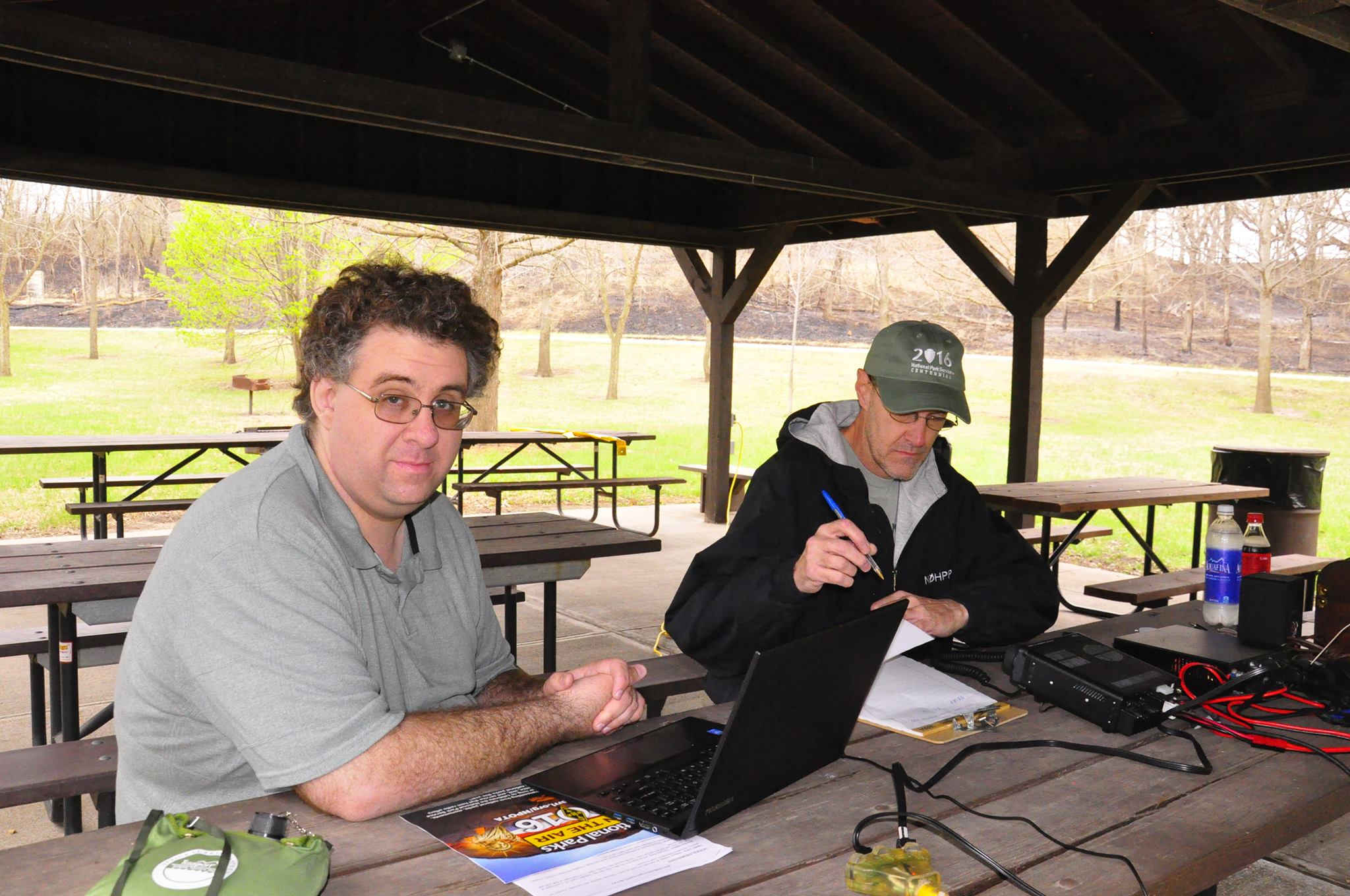 KD0MMG and K0CTU working the NE QSO Party from Rock Creek Station